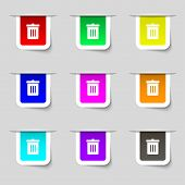 foto of reuse recycle  - Recycle bin Reuse or reduce icon sign - JPG
