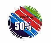 sale tag stickers with 50% discount