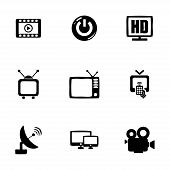picture of tv sets  - Vector tv icon set on white background - JPG
