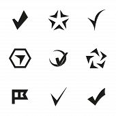 foto of confirmation  - Vector confirm icons set on white background - JPG