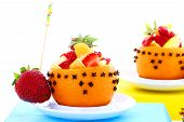 picture of fruit platter  - studio environment photographed with white background mixed fruit platter - JPG