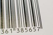 pic of barcode  - Black and white barcode - JPG