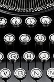 foto of groping  - an old typewriter keyboard - JPG