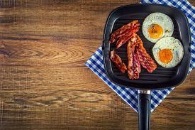 stock photo of breakfast  - Ham and Egg - JPG