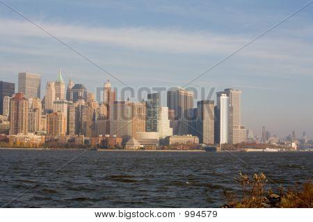 poster of New York City Skyline In Sunset