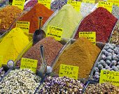 Постер, плакат: Eastern bazaar selection of spices and tea