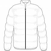 foto of bomber jacket  - winter jacket filled with real goose down - JPG