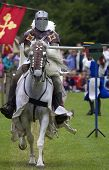 picture of jousting  - Knights jousting warwick castle England uk - JPG