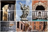 Rome Landmarks Collage poster