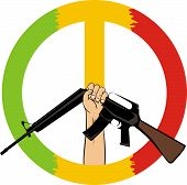 Stop the war - peace symbol