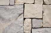 pic of fieldstone-wall  - a detail of a strange pattern stone - JPG