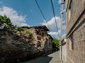Historic district Kond, Yerevan, Armenia. horizontal shot in the afternoon