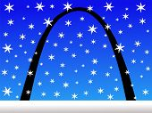 Gateway Arch In Winter