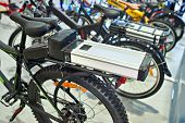 Lithium-ion Battery On Bike Luggage Carrier poster