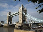 Tower Bridge - Over River Thames In London, England