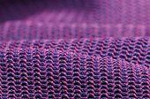 Постер, плакат: Текстура ткани розовый и фиолетовый макрос