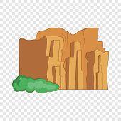 Sandstone Cliffs, Talampaya National Park Icon. Cartoon Illustration Of Sandstone Cliffs, Talampaya  poster