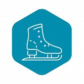 Skates Boot Icon. Outline Skates Boot Vector Icon For Web Design Isolated On White Background poster