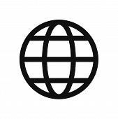 World Globe Icon Isolated On White Background. World Globe Icon In Trendy Design Style. World Globe  poster