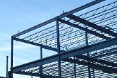 Construction Site Building Metal Structure Beams Frame poster