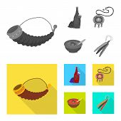Vector Illustration Of Culture And Sightseeing Symbol. Collection Of Culture And Originality Vector  poster
