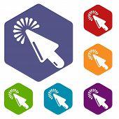 Cursor Website Icon. Simple Illustration Of Cursor Website Vector Icon For Web poster