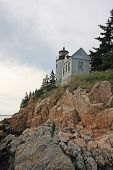 Bass Harbor Head Lighthouse On The Rocky Coast Of Bass Harbor, Maine. poster
