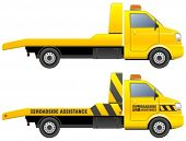 picture of wreckers  - Roadside assistance car towing truck - JPG