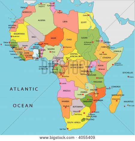 Political Map Of Africa Poster ID:4055409