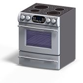 stock photo of nuke  - rendering of a oven With Clipping Path over white - JPG