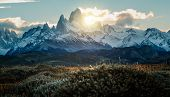 Fitz Roy Mountain Peak In Agentina Patagonia