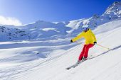 image of winter sport  - Skiing - JPG
