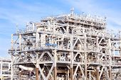 pic of lng  - Assembling of liquefied natural gas Refinery Factory with LNG storage tank using for Oil and gas industry background - JPG