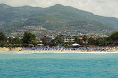 picture of cleopatra  - Turkey Alanya Mediterranean sea coastal panorama view of the city and the beach of Cleopatra - JPG