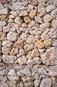 picture of rip-rap  - Detail take of a gabion retaining wall - JPG