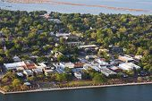 aerial view of beaufort, south carolina, usa