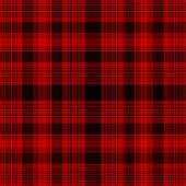 Tartan Traditional Checkered British Fabric Seamless Pattern, Black And Red, Vector.