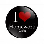 I Love Homework Button