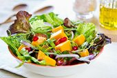 foto of rocket salad  - Mango wtih Pomegranate lettuce and rocket salad - JPG