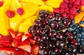 pic of fruit platter  - group of several colorful fruits - JPG