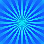 stock photo of starburst  - abstract blue starburst showing blue rays of light spreading out from the center - JPG