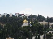 stock photo of church mary magdalene  - Golden domes of the Church of Mary Magdalene - JPG