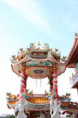 pic of tabernacle  - Pavilion of art in the Chinese templeThailand - JPG