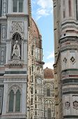 pic of cupola  - Detail of the cupola of the Cathedral of Santa Maria del Fiore - JPG