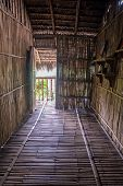 stock photo of guayaquil  - Replica of an entrance way of an old coastal house in a National park - JPG