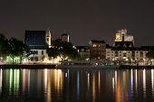 pic of frankfurt am main  - View of Frankfurt am Main by night - JPG