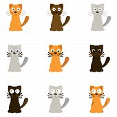 picture of kitty  - Funny cartoon cats - JPG