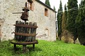 Decaying Machinery In Tuscan Countryside