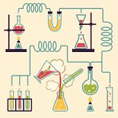 stock photo of beaker  - Chemistry Laboratory Infographic - JPG