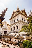 image of bonsai tree  - bonsai trees in the wat phra kaew temple Bangkok Thailand - JPG